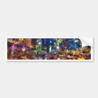 new york abstract street city night rain bumper sticker