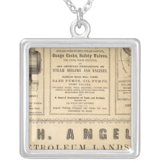 New York Advertisements Silver Plated Necklace