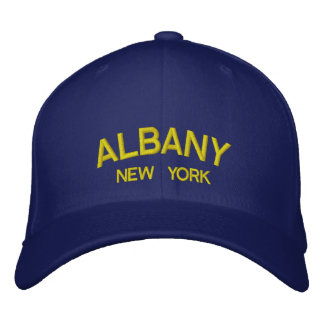 New York - Albany Embroidered Hat