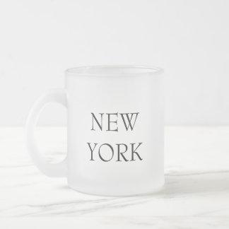 New York ... and ... (Mug) Frosted Glass Mug