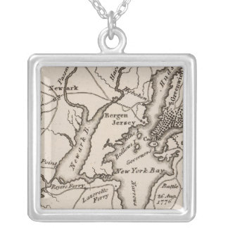 New York and New Jersey Region Silver Plated Necklace
