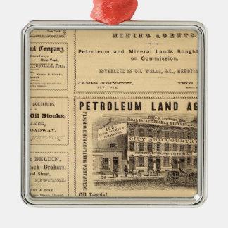 New York and Pennsylvania Oil Advertisements Christmas Ornament