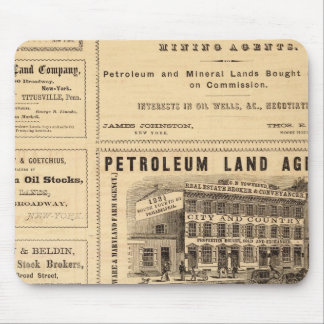 New York and Pennsylvania Oil Advertisements Mouse Mat