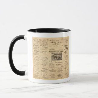 New York and Pennsylvania Oil Advertisements Mug