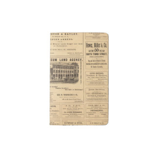 New York and Pennsylvania Oil Advertisements Pocket Moleskine Notebook