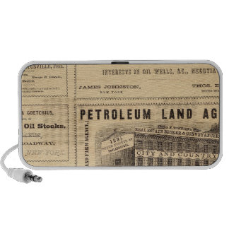 New York and Pennsylvania Oil Advertisements iPhone Speaker