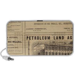 New York and Pennsylvania Oil Advertisements iPhone Speaker