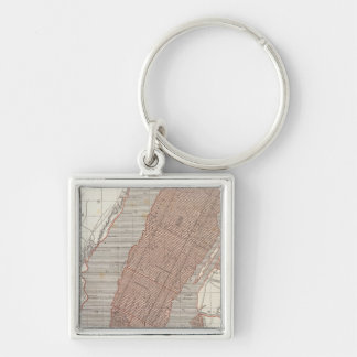 New York and vicinity Silver-Colored Square Key Ring