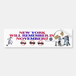 New York - Anti ObamaCare, New Taxes & Spending Bumper Sticker