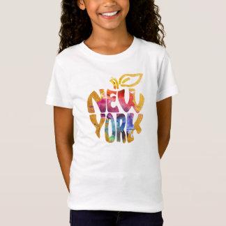 New York Apple, NYC. Watercolor Calligraphy Art. T-Shirt