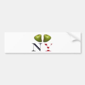 New York Apples Logo Bumper Stickers