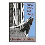 New York Art Deco - Chrysler Building Eagle Post Card