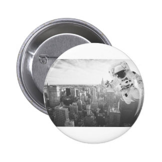new york astronaut bw 6 cm round badge