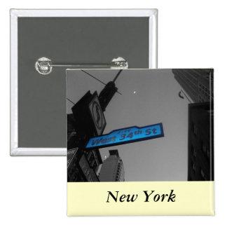 New York at Dusk 15 Cm Square Badge
