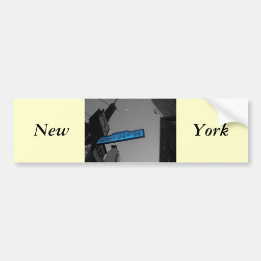 New York at Dusk Bumper Stickers