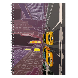 New York at nigh Photo Notebook (80 Pages B&W)