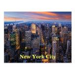 New York at Night Postcard