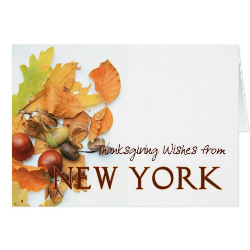 New York autumn leaves thanksgiving Greeting Card