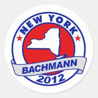 New York Bachmann Round Sticker