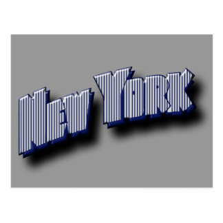 New York Banner Text Post Cards
