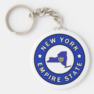 New York Basic Round Button Key Ring