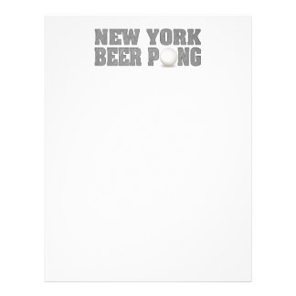 New York Beer Pong Custom Flyer