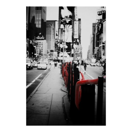 New York Black and White Photo Poster