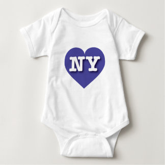 New York Blue Heart - Big Love Baby Bodysuit
