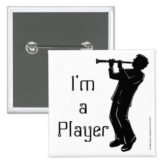 New York Boogie Nights Clarinet 15 Cm Square Badge