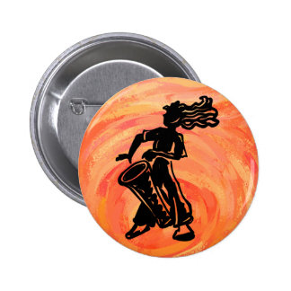 New York Boogie Nights Drum Orange Button