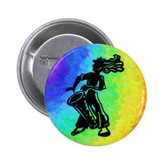 New York Boogie Nights Drum Rainbow Pin