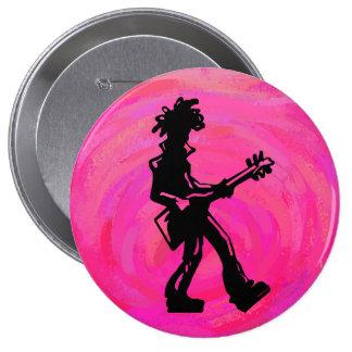 New York Boogie Nights Guitar Hot Pink Button