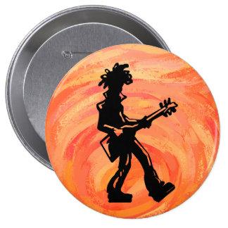 New York Boogie Nights Guitar Orange Pinback Button