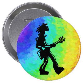 New York Boogie Nights Guitar Rainbow Button