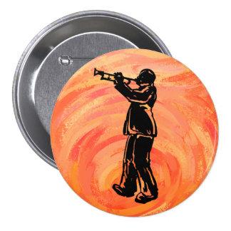New York Boogie Nights Trumpet Orange Pin