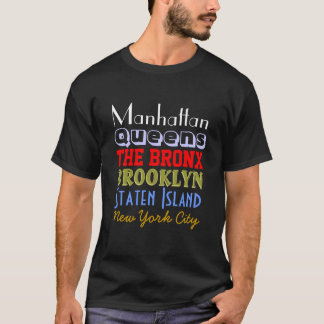 New York Boroughs T-Shirt