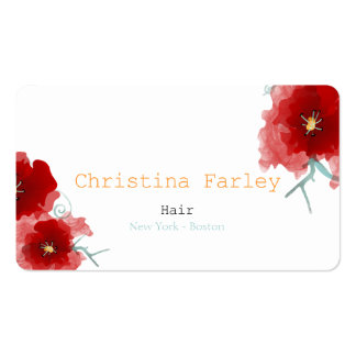 New York Boston Hair Pack Of Standard Business Cards