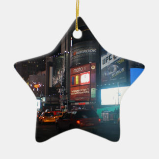 New York Broadway ate night Christmas Ornament