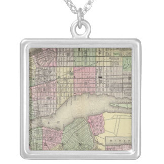 New York, Brooklyn 2 Silver Plated Necklace