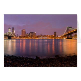 New York: Brooklyn At Night Card