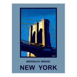 New York Brooklyn Bridge Postcard