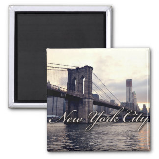 New York Brooklyn Bridge Sunset Magnet