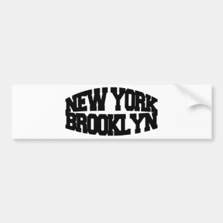 New York Brooklyn Bumper Sticker