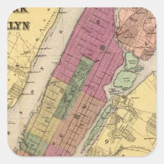 New York, Brooklyn Square Sticker