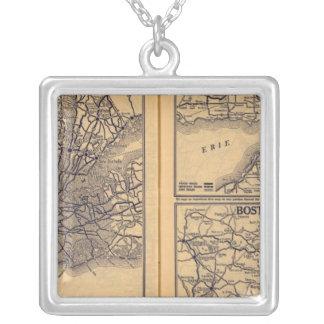 New York, Buffalo, Boston Silver Plated Necklace