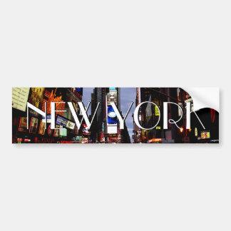 New York Bumper Sticker Time Square Bumper Sticker Car Bumper Sticker