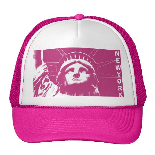 New York Caps Pink New York Souvenir Liberty Gifts Hat