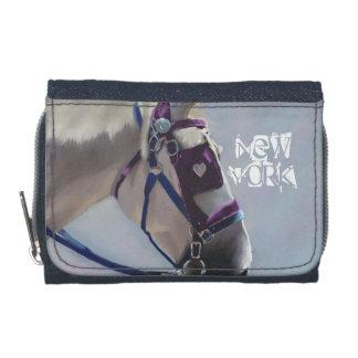 New York Carriage Horse Denim Purse Wallets