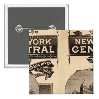 New York Central and Hudson River Railroad 15 Cm Square Badge