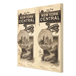 New York Central and Hudson River Railroad Canvas Print